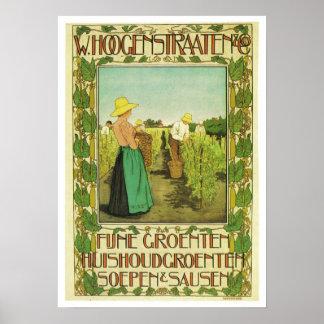 Wijnoogst Adverteren Poster W. Hoogstraaten & Co.
