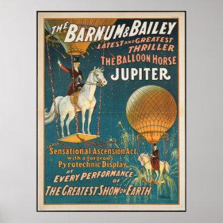 Wijnoogst: circus Barnum & Vestingmuur - Poster