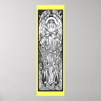 Wijnoogst - de Middeleeuwse Engel van de Stijl Poster
