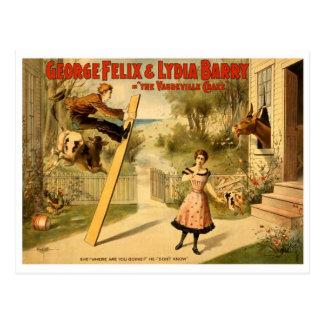Wijnoogst - de Vaudeville Nieuwigheid Briefkaart