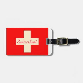 Wijnoogst die het Zwitserse label van de Kofferlabels