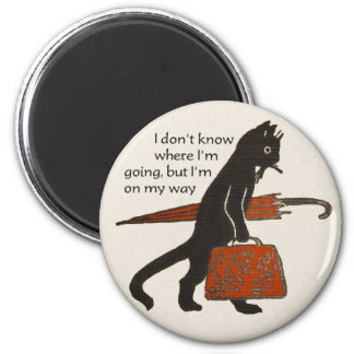 Wijnoogst die Zwarte Kat om Magneet reizen