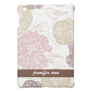 Wijnoogst Geschilderde Bloemen en Vogels Hoesje Voor iPad Mini