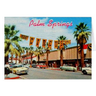 Wijnoogst: Groeten van Palm Springs Wenskaart