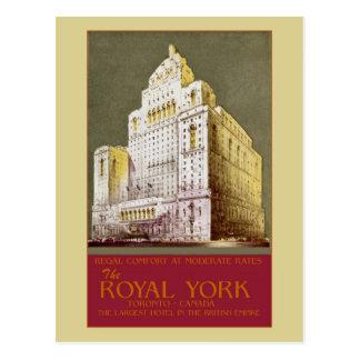 Wijnoogst het Koninklijke Hotel Toronto van York Briefkaart