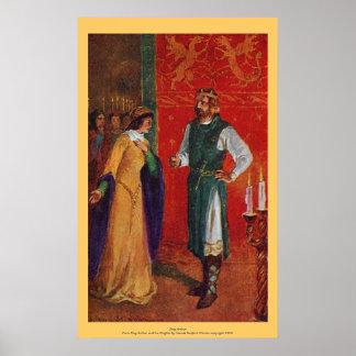 Wijnoogst - Koning Arthur Poster