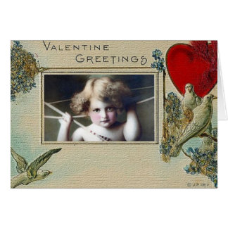 Wijnoogst - Valentijn - Mooie Cherubijn & Duiven Wenskaart