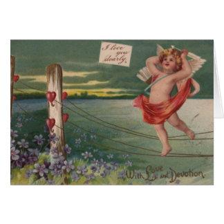 Wijnoogst - Valentijnse Cherubijn - Liefde & Wenskaart
