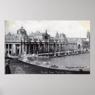Wijnoogst van 1904 van de Wereld van St.Louis de Poster
