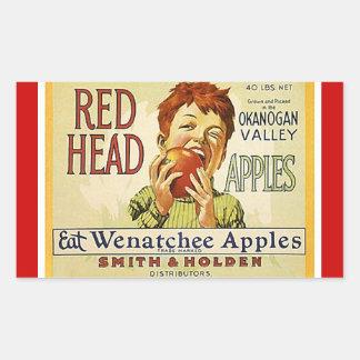 Wijnoogst van de sticker adverteren Rode