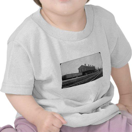 Wijnoogst van het Depot van de Spoorweg van New Yo T Shirt