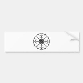 Wijnoogst van het kompas nam toe bumpersticker