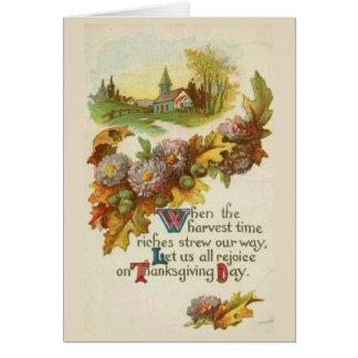 Wijnoogst - verheug me op Thanksgiving day, Briefkaarten 0
