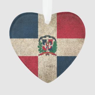 Wijnoogst Verontruste Vlag van Dominicaanse Ornament