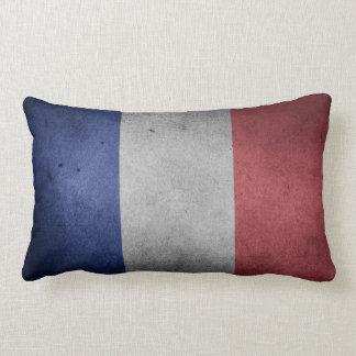 Wijnoogst Verontruste Vlag van Frankrijk Lumbar Kussen