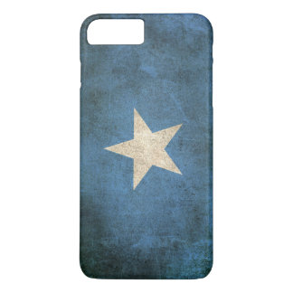 Wijnoogst Verontruste Vlag van Somalië iPhone 7 Plus Hoesje
