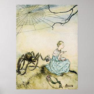 Wijnoogst Weinig Misser Muffet door Arthur Rackham Poster