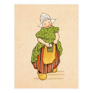 Wijnoogst Weinig Nederlands Meisje Briefkaart