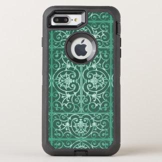 Wijs groen scrollworkpatroon OtterBox defender iPhone 7 plus hoesje