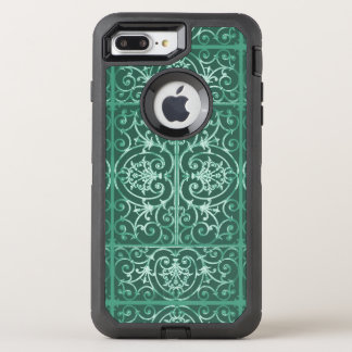 Wijs groen scrollworkpatroon OtterBox defender iPhone 8 plus / 7 plus hoesje