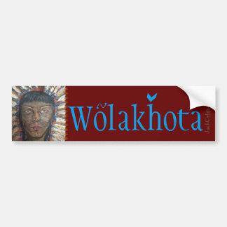 """""""Wijsheid"""" PEACE~Wolakhota Bumpersticker"""
