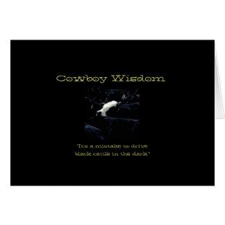 Wijsheid V van de cowboy Wenskaart