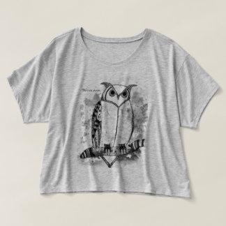 Wijze de Gevormde Uil van het Ontwerp van de Kunst T Shirts