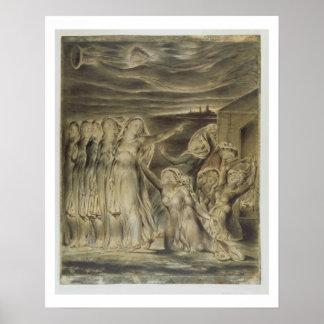 Wijze en Dwaze Virgins, c.1822 (w/c en pen Poster