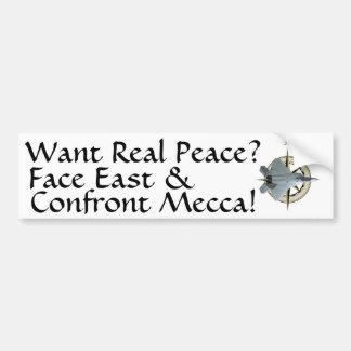 Wil de Echte Vrede van het Midden-Oosten Bumpersticker