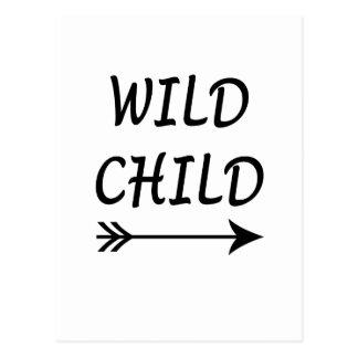 Wild aanwezig Kind Briefkaart