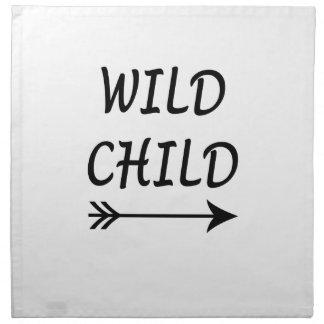 Wild aanwezig Kind Katoenen Servet