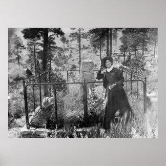 WILD CALAMITY JANE bij het GRAF 1903 van WILD BILL Poster