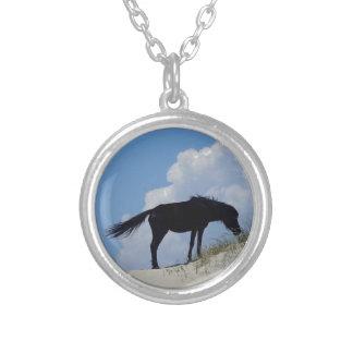 Wild paard in OBX Zilver Vergulden Ketting
