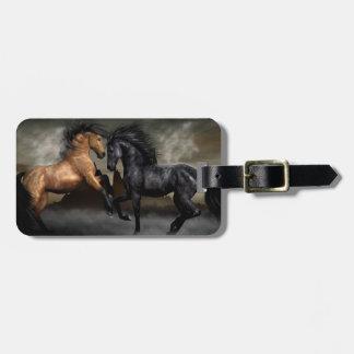 Wild paarden kofferlabels