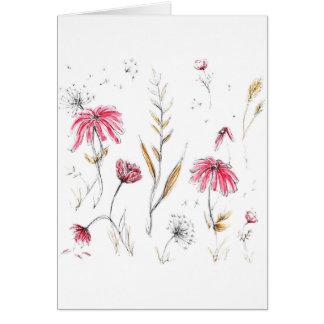 Wilde bloemen kaart