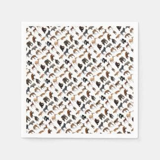 Wilde dieren papieren servetten