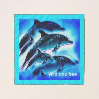 Wilde en vrije dolfijnen sjaal