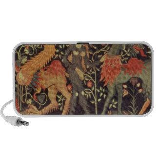 Wilde Man en Dieren, tapijtwerk, 15de eeuw iPod Speaker