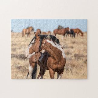 Wilde Mustangen Legpuzzel