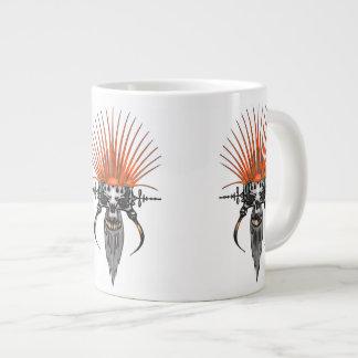 Wilde Schedel Cyber met Slagtanden Grote Koffiekop