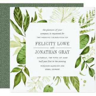 Wilde Uitnodiging   van het Huwelijk van de Weide Kaart