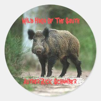 Wilde Varkens van het Zuiden, Auteur R… Ronde Sticker