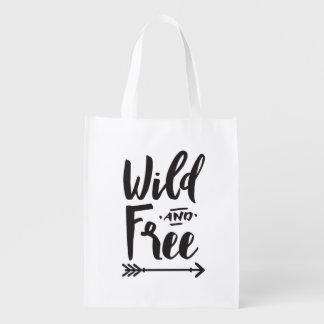 Wilde & Vrije Opnieuw te gebruiken Zak Boodschappentas