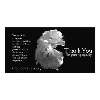 Wilde Witte Rozen 3 Sympathie danken u Kaart