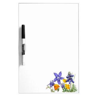 Wildflowers droog-wist Raad Dry Erase Whiteboard