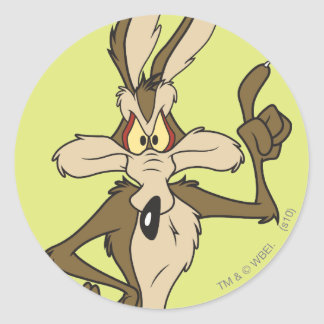 Wile E. Coyote Lang Standing Ronde Sticker