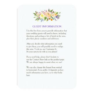 Wilg en het BloemenTussenvoegsel van het Huwelijk 8,9x12,7 Uitnodiging Kaart