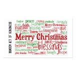 Willekeurig Akte van de Kerstkaarten van de Vriend Visitekaartje