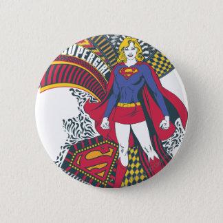 Willekeurige Wereld 1 van Supergirl Ronde Button 5,7 Cm