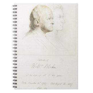 William Blake (1757-1827) in de Jeugd en Leeftijd  Ringband Notitie Boek